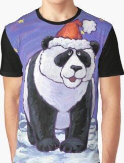 Panda Bear Christmas Graphic T-Shirt