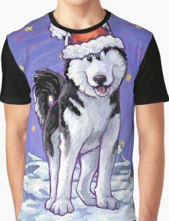 Husky Christmas Graphic T-Shirt