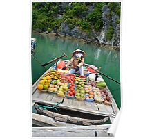 Floating fruit stand Poster