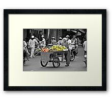 Fruit cart in Ho Chi Minh City Framed Print