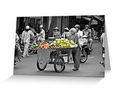 Fruit cart in Ho Chi Minh City Greeting Card