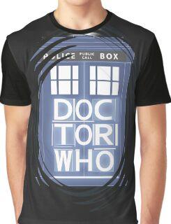 wibbly wobbly timey wimey TARDIS Graphic T-Shirt