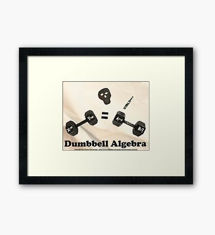 Dumbbell Algebra  Framed Print