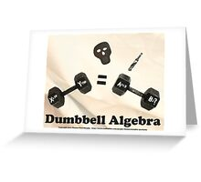 Dumbbell Algebra  Greeting Card