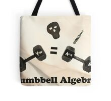 Dumbbell Algebra  Tote Bag