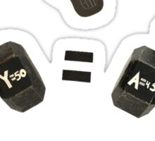 Dumbbell Algebra Sticker