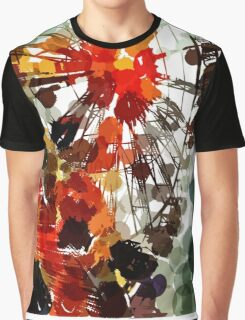 Ferris Wheel - Flashback To Childhood Fun - Digital Graphic Graphic T-Shirt