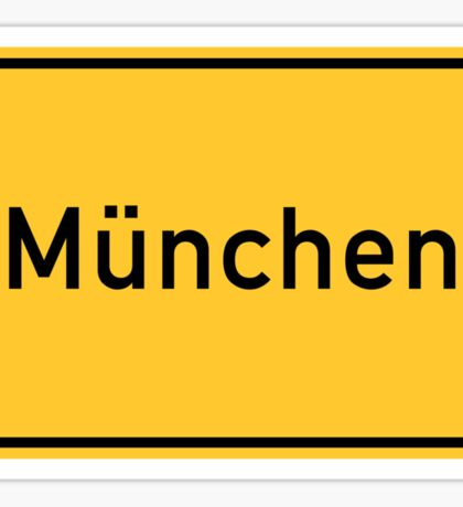 Munich, Road Sign, Germany  Sticker