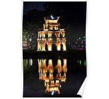 Hoan Kiem Lake reflection Poster