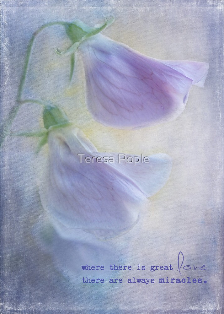 love and miracles by Teresa Pople