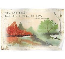 Try, and fail... Poster