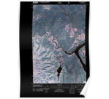 USGS Topo Map Washington State WA Pateros 20110429 TM Inverted Poster