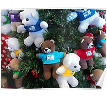 Teddy and playmates playing up the tree... Poster