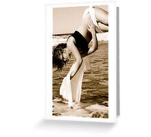 Trapeze Beach Camp Greeting Card