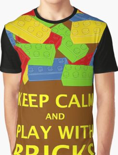 KEEP CALM AND PLAY WITH BRICKS Graphic T-Shirt
