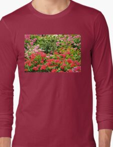 Lovely Red Blossoms Long Sleeve T-Shirt