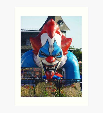 Scary Clown Face Art Print