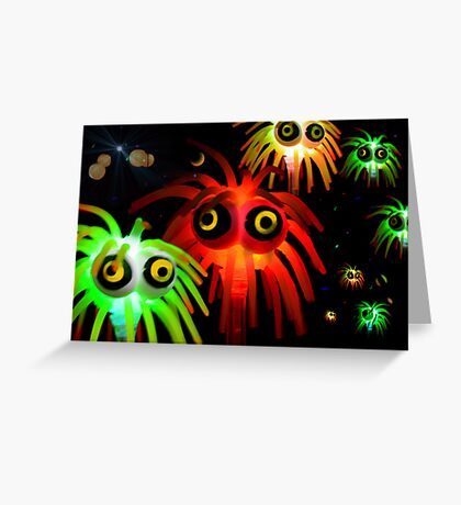 intergalactic space invaders Greeting Card
