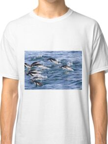 Gentoo penguins (Pygoscelis papua). swimming in the ocean Classic T-Shirt