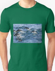 Gentoo penguins (Pygoscelis papua). swimming in the ocean Unisex T-Shirt