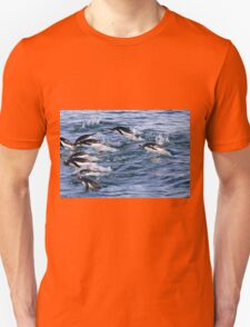 Gentoo penguins (Pygoscelis papua). swimming in the ocean Unisex T-Shirt