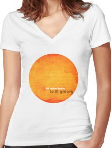All India Radio - Lo Fi Groovy Tshirt Women's Fitted V-Neck T-Shirt