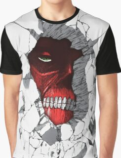 Red Peeking Monster Graphic T-Shirt