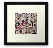Franklin's Way of Saying Hello. Framed Print