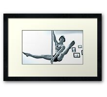 Pole Dancing in the Air Framed Print