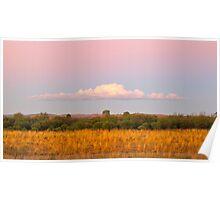Pink sunset Flinders Rangers (Australia) Poster