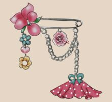 Girly Brooch Accessory by Biana-B-Unique