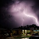 Lightning crashes by Troy Slater