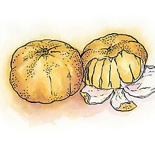 Peeled clementines by Carl Conway