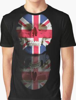 UK Flag Union Jack Skull Graphic T-Shirt