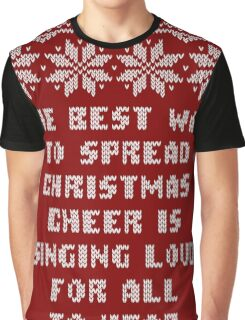 Buddy Elf Spread Christmas Cheer Holiday Ugly Sweater Graphic T-Shirt