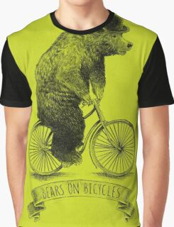 Bears on Bicycles (lime option) Graphic T-Shirt