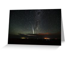 Comet Lovejoy over Mannum Greeting Card