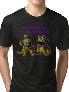 FNAF 4 - Fun with Plushtrap Tri-blend T-Shirt