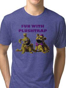 FNAF 4 - Fun with Plushtrap Tri-blend T-Shirt