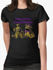 FNAF 4 - Fun with Plushtrap Womens Fitted T-Shirt