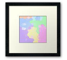 Pastel Pixels Framed Print