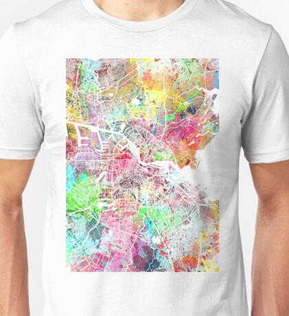Amsterdam map painting Unisex T-Shirt