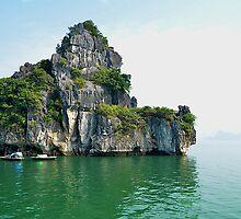 Still waters in Ha Long Bay by Carl LaCasse