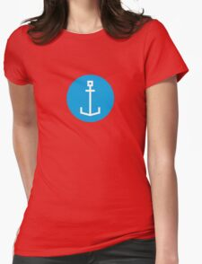 Square anchor Womens Fitted T-Shirt