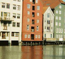 Nidelva through Trondheim, Norway - Diana 120mm Photograph  Sticker