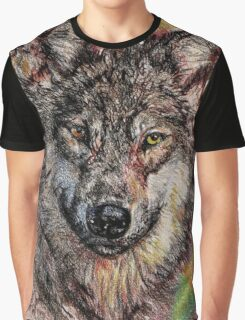 Portrait of a Gray Wolf Graphic T-Shirt