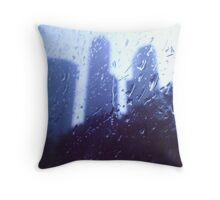 drops on the window Throw Pillow