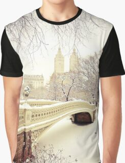 Winter in Central Park Graphic T-Shirt