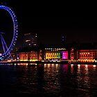 London Eye at night by Alex Chartonas