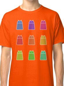 Rainbow Android Daleks Classic T-Shirt